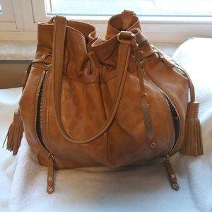 Vintage Cole Haan Leather Bucket Bag